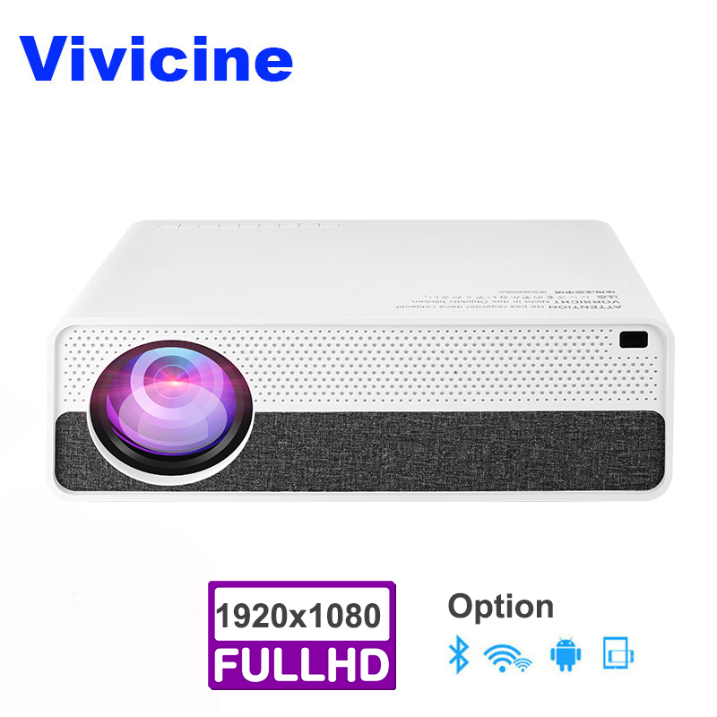 Vivicine Latest M19 Full HD Projector,Optional Android 9.0 HDMI USB PC 1080p Home Theater Video Projector Proyector Beamer