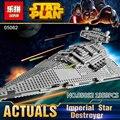Nueva Lepin 05062 1359 unids Genuino Serie Star El Destructor Estelar Imperial Set 75055 Bloques de Construcción Ladrillos de Juguetes Educativos