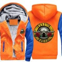 Neue 3D gedruckt herbst/winter neuen männer street spiel gold pistole rose und plüsch warme kleidung Guns N 'Roses youth hoodie hoodie