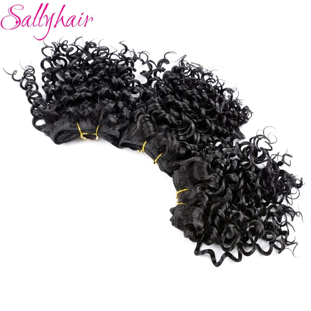Sallyhair Afro Kinky Σγουρά μαλλιά πλέκουν - Συνθετικά μαλλιά - Φωτογραφία 4