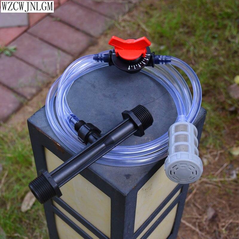 1/2 Inch 3/4 Inch Male Thread Automatic Venturi Fertilizer Injectors Kits Irrigation Venturi Tube Water Flow Control Switch Mesh