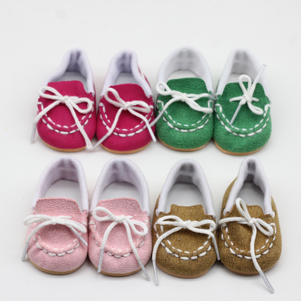 1 Pair Dolls Boots For 43cm Baby  Dolls As For 18 Inch Girl Dolls Mini Shoes Slippers Toy