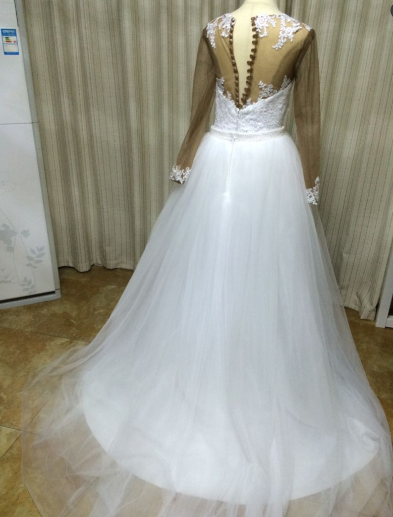 Funky Long Sleeve Plus Size Wedding Dresses Gift - All Wedding ...