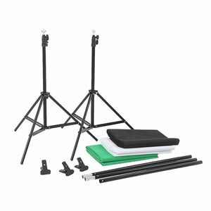 Image 3 - ZUOCHEN fotoğraf stüdyosu arka plan desteği stant kiti siyah beyaz yeşil ekran zemin seti
