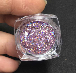 Image 2 - 5g/bag PGFK 004 New Galaxy Holographic Laser Flakes Big Size Best Effect for Nail Polish Art Glitter super holographic glitter