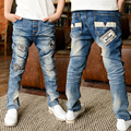 Korean boys Jeans Kids  Personality after pockets Jeans  skinny pants trousers 6-10 year