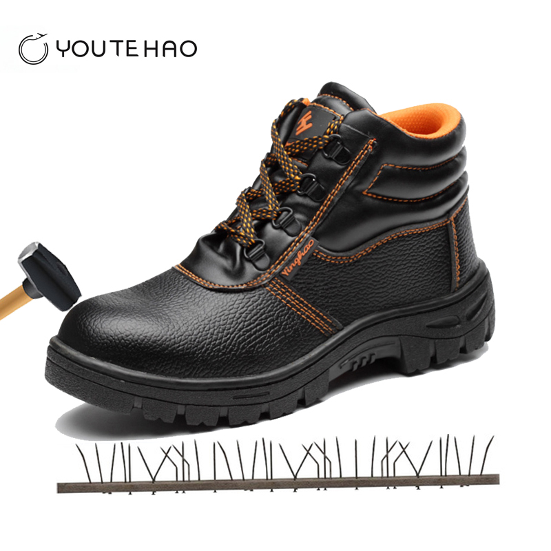 High-steel steel toe cap safety shoes smash-proof puncture waterproof anti-slip site safety boots shoes image
