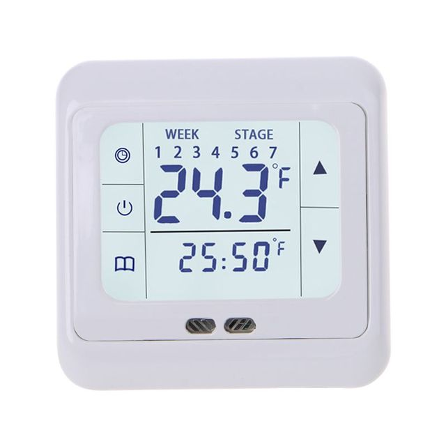 Termoregülatör Dokunmatik Ekran Isıtma Termostatı Sıcak Zemin için, Elektrikli Isıtma Sistemi sıcaklık kontrol cihazı ile Çocuk Kilidi