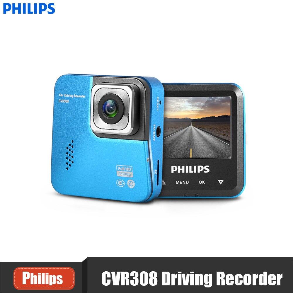 PHILIPS CVR308 2 Pouce Dash Cam 1080 P 110 Degrés Tactile contrôle Mini Recoder 1200 Mega Résolution Soutien WDR Détection de Mouvement DVR