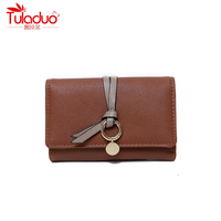 New Designer Cute Small Wallet For Women Lady Mini Clutch Coin Purse Round Metal Card Holder
