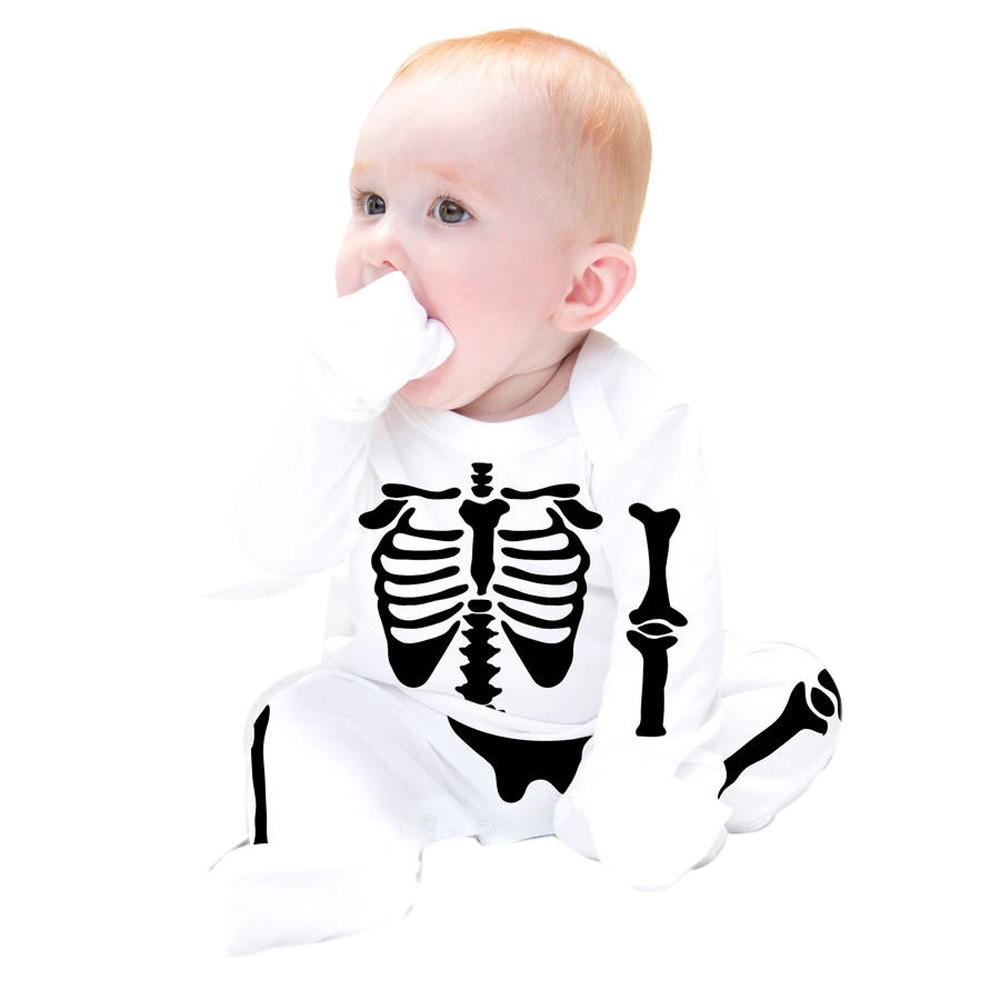 baby clothing set Baby Boys Girls Bone Printing Long Sleeve Romper newborn unisex Cute Casual clothes for age in 0-24M 17Dec13