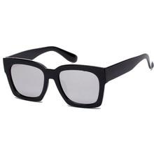 Moda Mujer Hombre Unisex Cuadrado gafas de Sol UV400 Gafas de Sol de Marco De Plástico