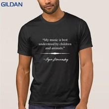 Fitness Stravinsky música entiende camiseta manga corta Camisa hombres  camiseta algodón ropa Hiphop superior tamaño grande 6f5ae913b3d