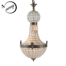 خمر الإمبراطورية الملكي زجاج كريستال LED الحديثة أوروبا مصباح نجف أضواء Lustres G9 لغرفة المعيشة غرفة نوم المطبخ مقهى متجر