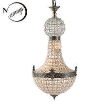 Vintage Royal Empire Glas Kristal LED Moderne Europa Kroonluchter Lamp Lustres Lichten G9 Voor woonkamer slaapkamer keuken cafe winkel