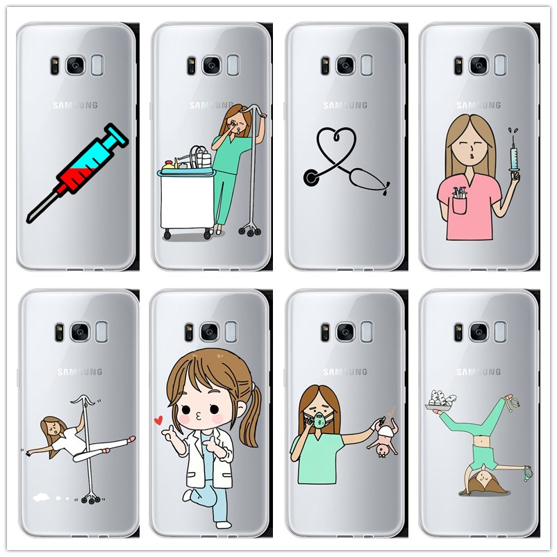 Cover Case Coque Medicine Doctor Spain S9 Nurse Samsung Galaxy Cartoon Original Note-5