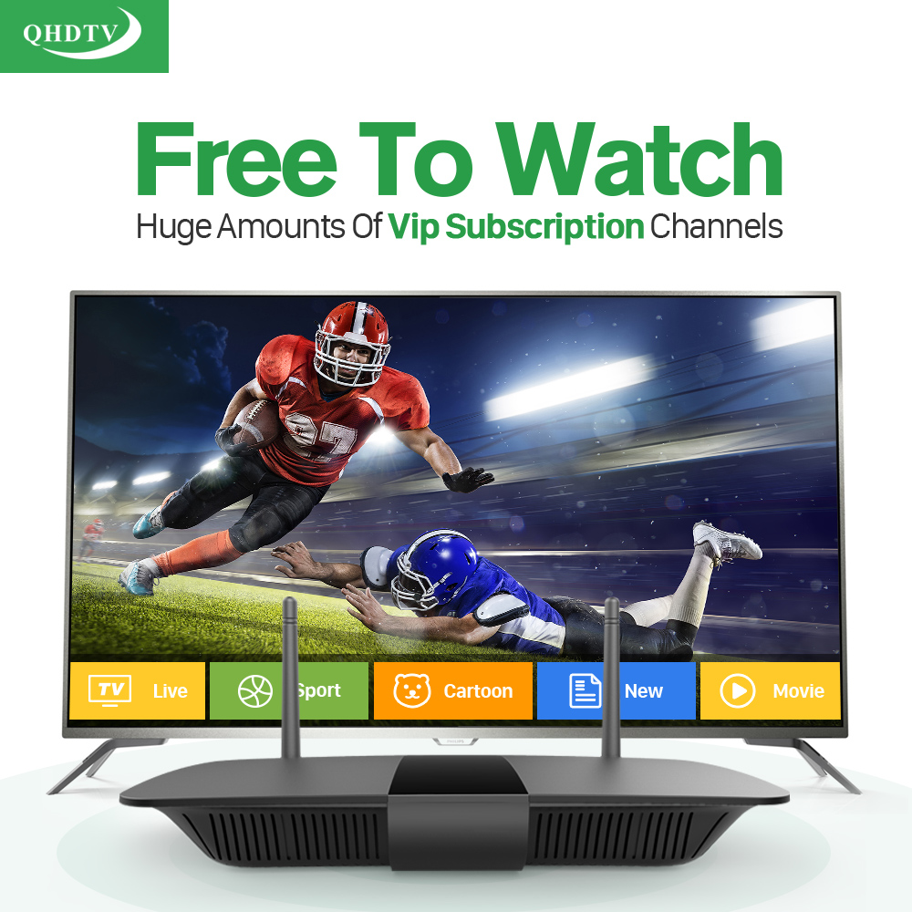 Dalletektv HD Smart Android IPTV Set Top Box 8G QHDTV/ IUDTV iptv Abaric Europe 3500+ Channels Subscription 1 Year Media Player