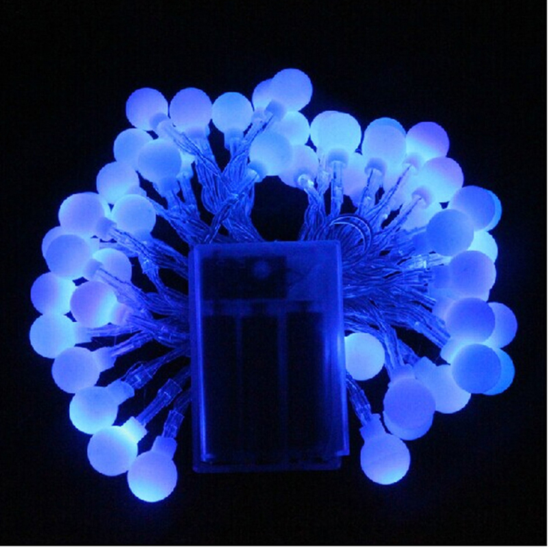 Battery Operated Outdoor String Lights Globe: Battery Operated 3M 5M 10M LED Globe String Lights For
