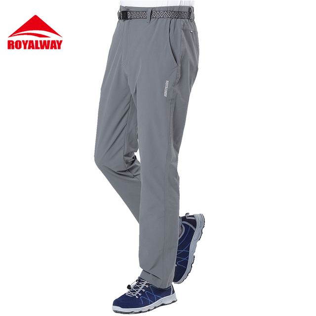 ROYALWAY Camping Hiking Pants Men Elastic Quick Dry 2017 New Arrival #RFPM1055G