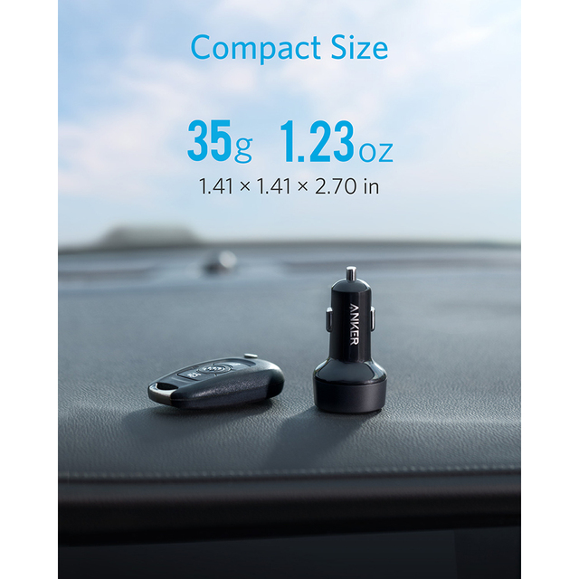 Car Phone Charger with 2 Ports
