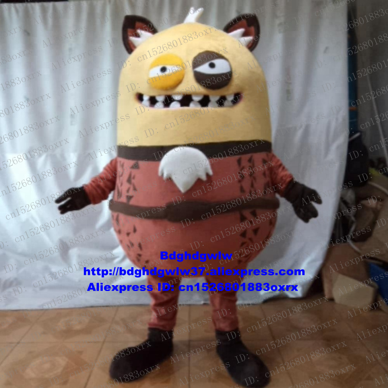 Trustful Brown Scary Monster Mascot Costume Adult Cartoon Character Outfit Suit All Saints Day Opening Gifts Celebration Zx2430 Fixing Prices According To Quality Of Products