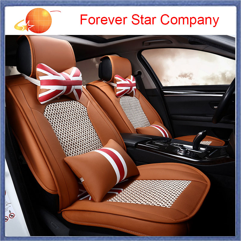 Universal Car Seat Covers Leather PU Design 5 Auto Seats Cover Set Styling Interior Accessories