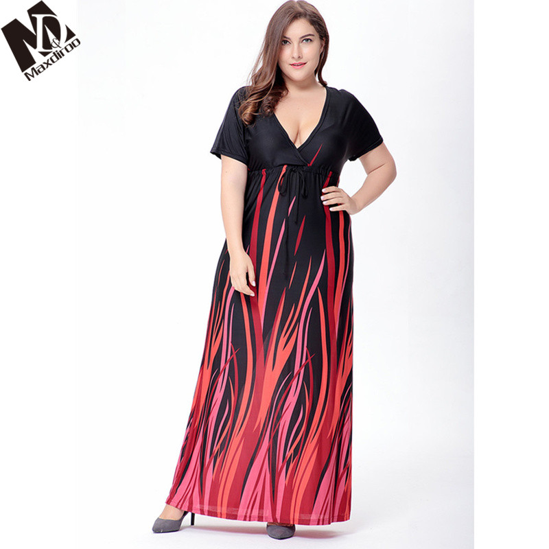 Maxdiroo Fashion Women Dress Chiffon Short Sleeve Black Ladies Dress Long  Maxi Dress Plus Size Dresses for Women 4xl 5xl 6xl-in Dresses from Women s  ... 54c2741fe8b4
