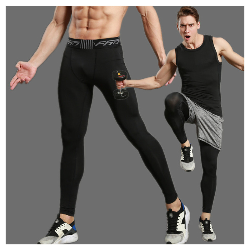 Compression Pants Men Sports Running Tights Men Bodybuilding Jogging Leggings Fitness Gym Clothing Sport Leggings Men Trousers недорого