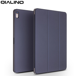 QIALINO Ultra Slim Genuine Leather Tablet Cover for Apple iPad Pro 12.9 2018 Wake up&Sleep Function Flip Case for iPad Pro 11