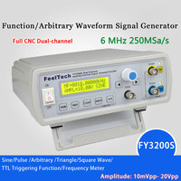 Digital DDS Dual channel Function Signal Generator Sine Wave Arbitrary Waveform Frequency generator 12Bits 250MSa/6MHz
