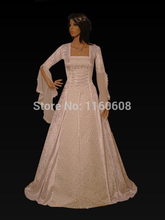 Úchvatný renesanční středověký styl plesových šatů na míru všech velikostí