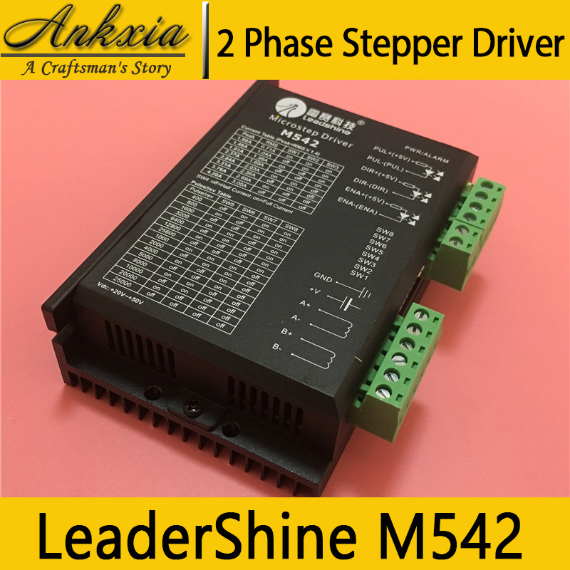 Leadshine M542 two-phase Stepper stepping Motor Driver 20-50 VDC with 1.0-4.2A for CNC Router Kits driver leadshine am882 stepper drive stepping motor driver 80v 8 2a with sensorless detection
