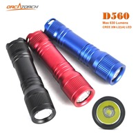 ORCATORCH D560 Mini Diving Flashlight Scuba Diving Light Submarine 630LM Diving Backup Torch 150M Underwater Diving Light