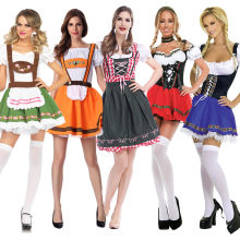Volwassen Vrouwen Oktoberfest Dirndl Kostuum Bavaria Bier Party Girl Wench Kostuum Fantasia Outfit(China)