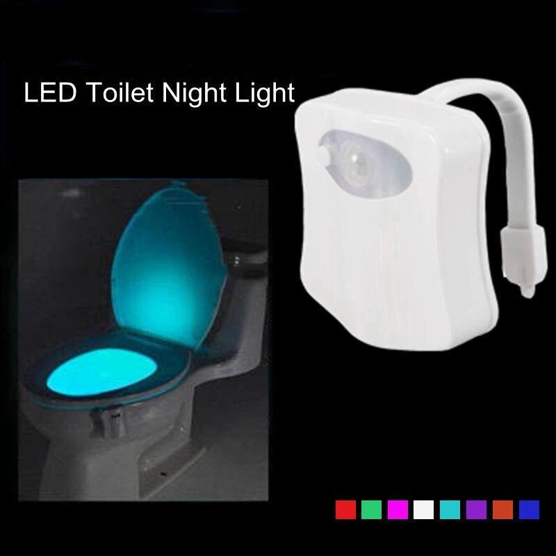 1w led toilet nightlight motion activated light sensitive dusk to dawn. Black Bedroom Furniture Sets. Home Design Ideas