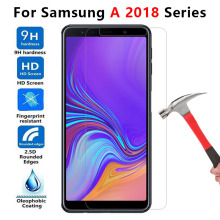 Protective Glass For Samsung A5 A6 A7 A8 Plus 2018 Tempered Glas On The Galaxy A