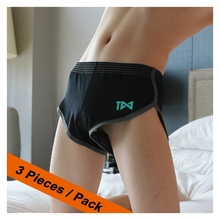 3 Boxers Sexy Men U Convex Pouch For Gay Underpants Loose Co