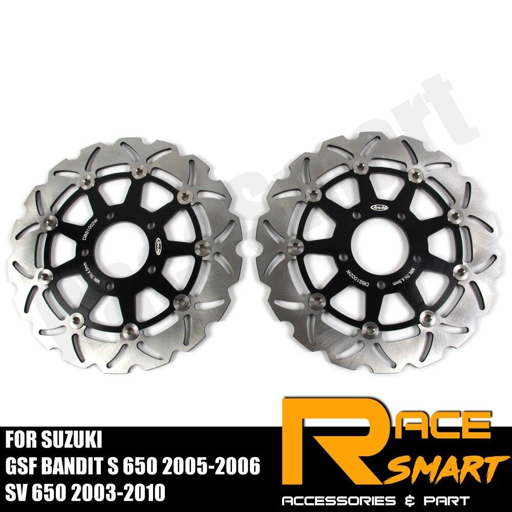Moto CNC disques de frein avant disques en acier inoxydable frein Rotor pour SUZUKI GSF BANDIT S 650 2005 2006 SV 650 2003-2010