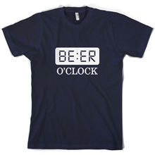 Beer O Clock - Mens T-Shirt 10 Colours Alcohol Drinking Print T Shirt Short Sleeve Hot Tops Tshirt Homme