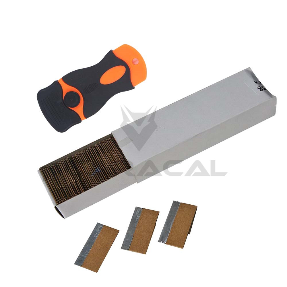 Steel Safety Scraper Knife Razor blades Replacement for Car Wrapping 100-Blade/box