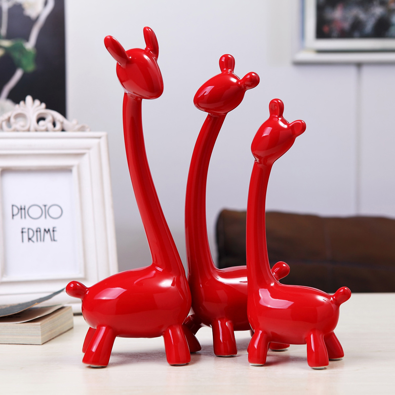 Family adornment handicraft the home of small deer of