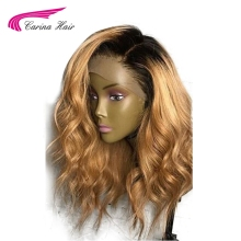 Carina Brazilian Lace Front Human Hair Wigs with Baby Hair Middle Pre-Plucked Hairline Remy Hair Glueless Wigs