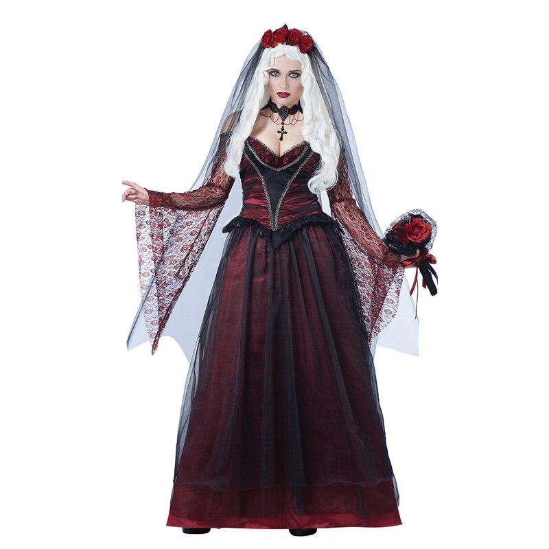 Vocole Halloween Gothic Deluxe Sexy Ghost Bride Costume