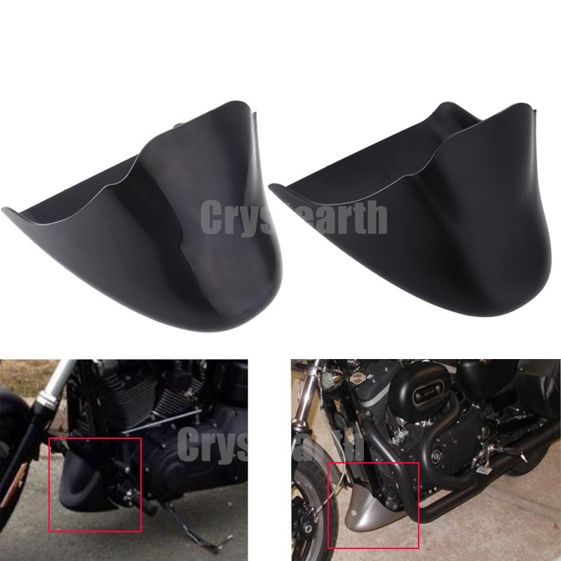 Black Motorcycle Chin Fairing Engine Bottom Mudguard Front Spoiler Fender Cover For Harley Sportster XL883 1200 2004-2014 motorcycle chrome front spoiler chin fairing for harley sportster xl883 1200 04 15 new