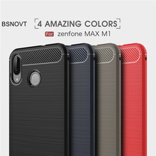 BSNOVT Shell ASUS Zenfone Max M1 ZB555KL Cover Shockproof Silicone Brushed Phone Case For ASUS Zenfone Max M1 ZB555KL Funda 5.5