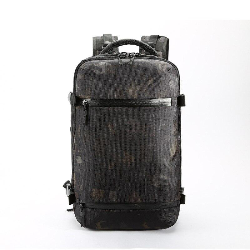 OZUKO USB sac à dos hommes voyage Pack sac homme bagages affaires sac à dos grande capacité étanche sac à dos pour ordinateur portable avec chaussures sac - 4