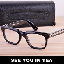 Free shipping high quality Brand glasses frame 2017 silver jewelry grapes of man/woman eyewear optical glasses SEE YOU IN TEA