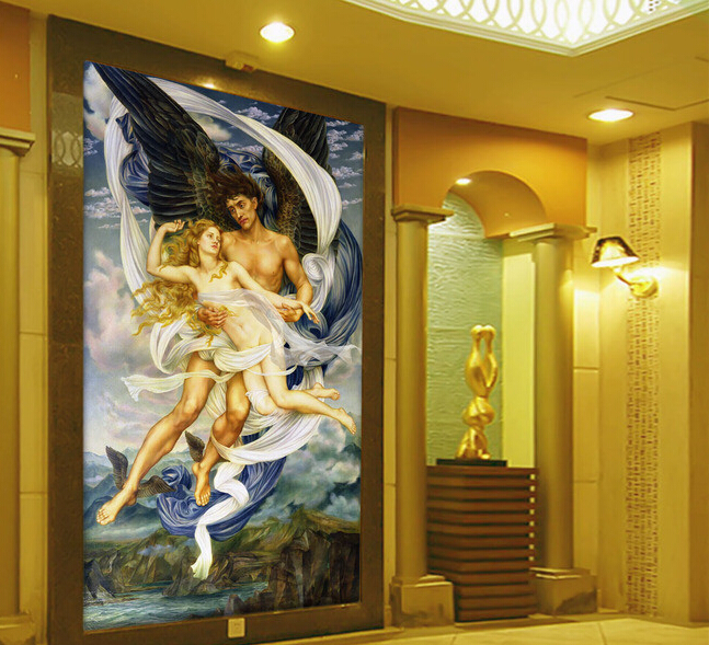 Custom 3D wallpaper, Polly Elias and Russian Swiss Pattaya mythology painting for entrance, living room backdrop vinyl wallpaper jackson russian rhoads custom shop