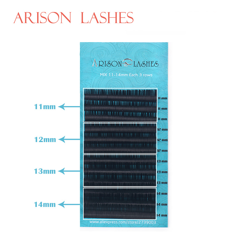 Promotions Price Silk Eyelashes J B C D Curl Mix Length 7-15mm Silk Individual Eyelash Extensions Black Fake Eye Lashes Soft And Light Beauty Essentials
