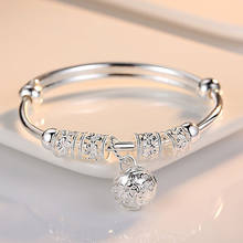 1015b97b0bf6f Popular 925 Sterling Silver Bangles for Women with Stones-Buy Cheap ...